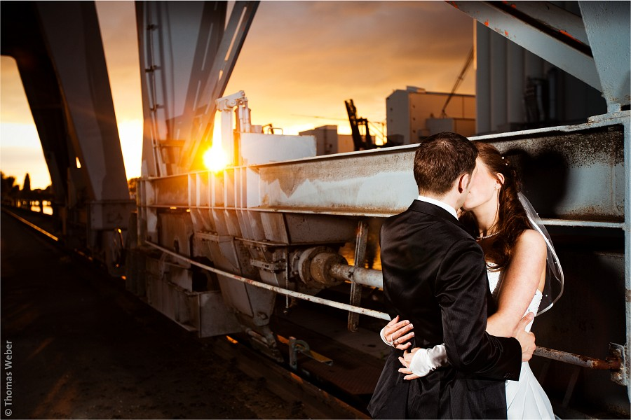 After Wedding Shooting im Hafen